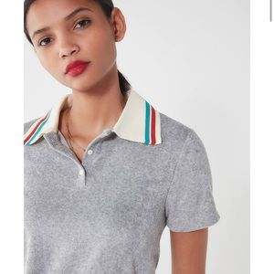 Project Social T | Terry Polo Shirt Gray Small